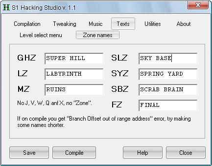 Sonic 1 Hacking Studio